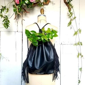 Victoria's Secret Faux Leather Fringed Backpack